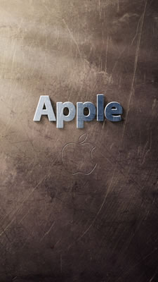 Logo marrón de Apple