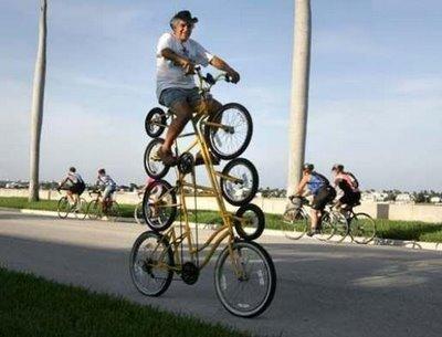 Bicicleta de cuatro pisos