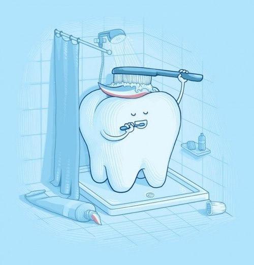 Baño de un diente