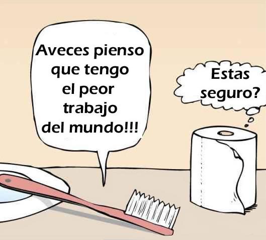 un cepillo de dientes dibujado que le habla a un rollo papel de water humorlifestyle