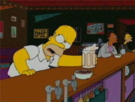 Bart con cerveza