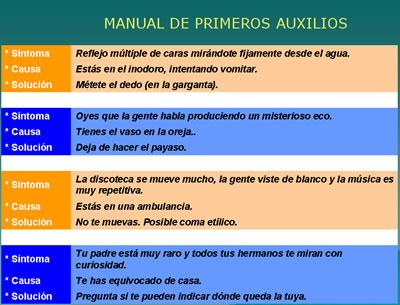 50b2d8c9788 Manual de primeros auxilios - Humor