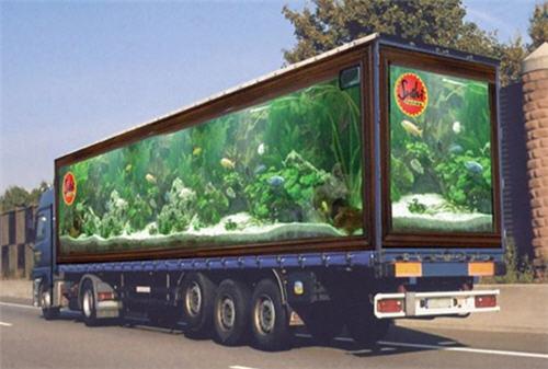 Camión con publicidad